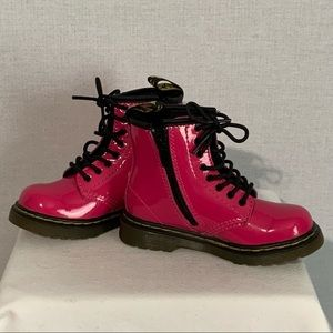 DR DOC MARTENS Hot Pink Boots Toddler Sz 8 EUC